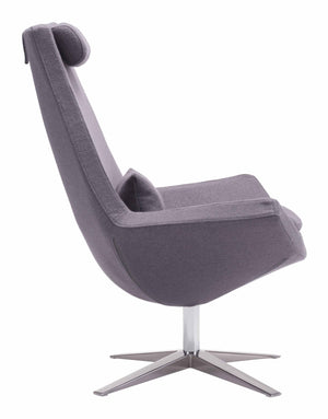 Zuo Modern Bruges Occasional Chair in Charcoal Gray