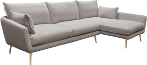 Diamond Sofa Vantage Right-Facing 2-Piece Fabric Sectional Sofa