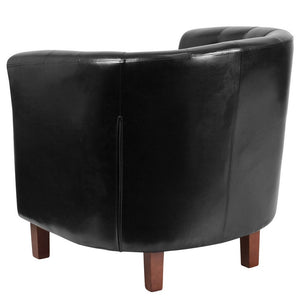 Flash Furniture Hercules Cranford Series Leather Tufted Barrel Chair