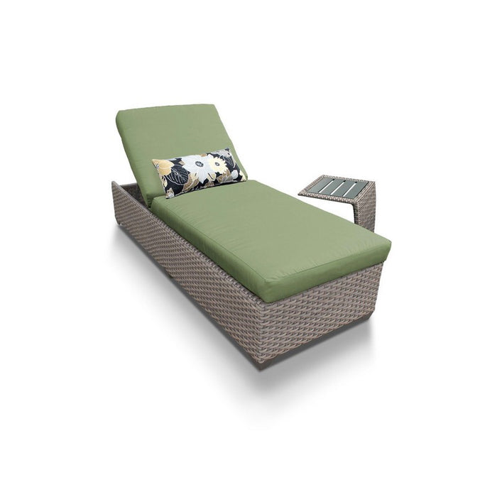 Oasis Chaise Outdoor Wicker Patio Furniture With Side Table