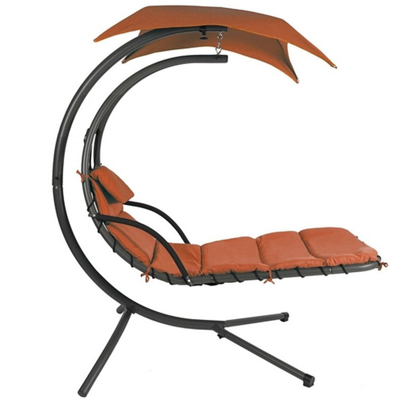 Modern Chaise Lounger Hammock Chair - Orange