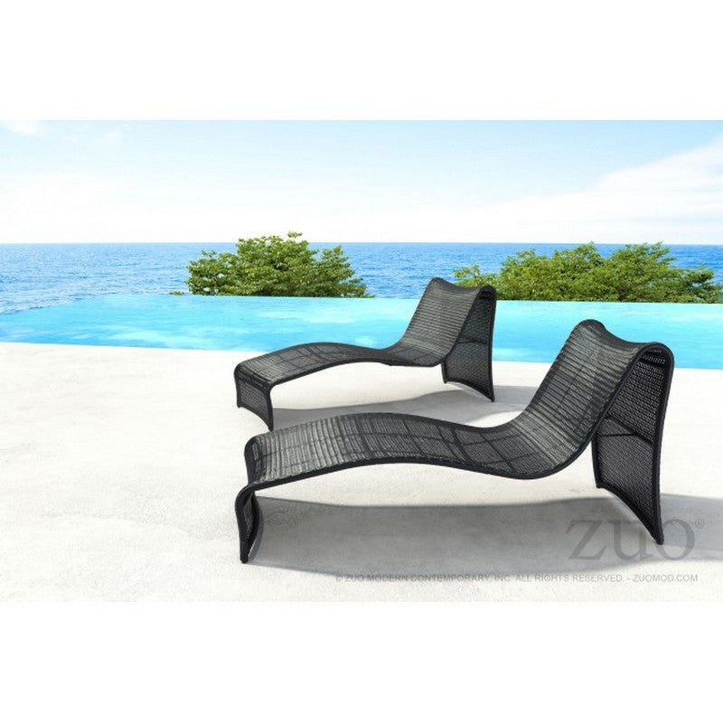 Rocky Beach Chaise Lounge - Espresso