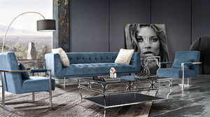 "Diamond Sofa Hollywood 87"" Tufted Velvet Sofa"