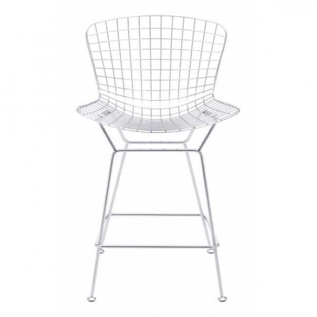 Wire Counter Chair - Chrome