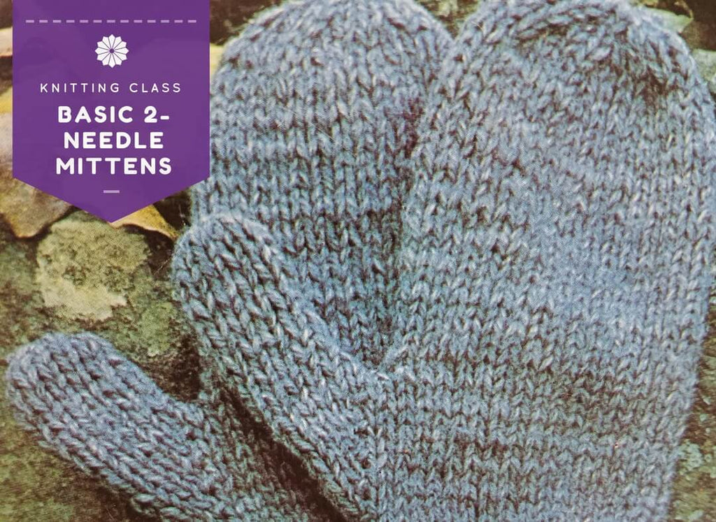 Knitting Mittens With Straight Needles : Basic needle knit mittens classes at ann s by design