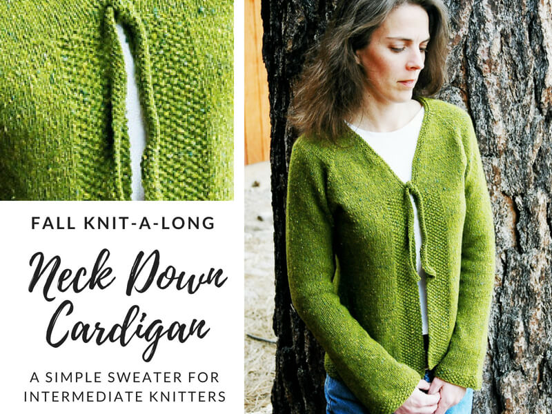 Neck Down Cardigan KAL