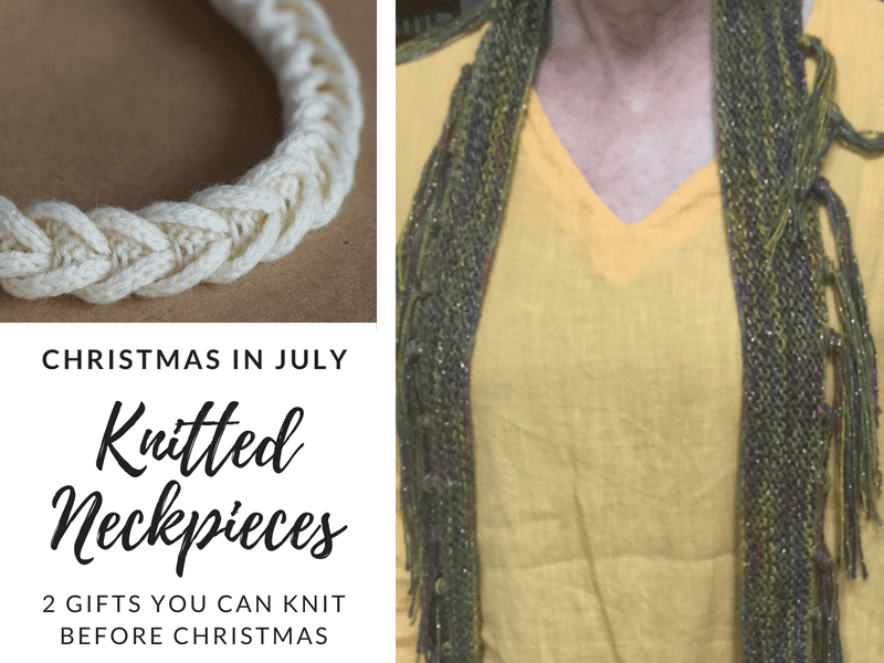 Christmas in July: Knitted Neckpieces