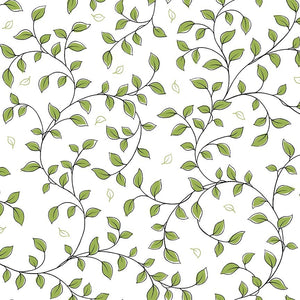Not Your Garden Variety Leaf Vine Light Green Fabric Yardage 25769-H | Ann's By Design