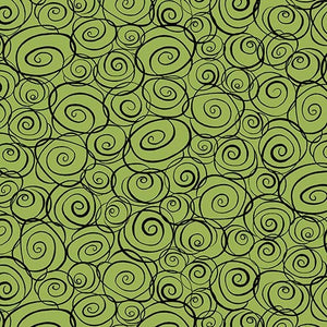 Not Your Garden Variety Swirls Green Fabric Yardage 25770-H