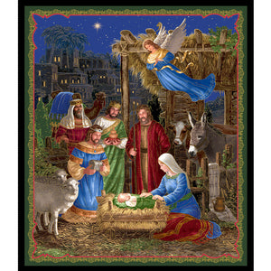In Bethlehem Nativity 36in Multi Fabric Panel 25909-X