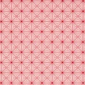 Sophia Diamond Geo Patch Pink Fabric Yardage 26074-P | Ann's By Design