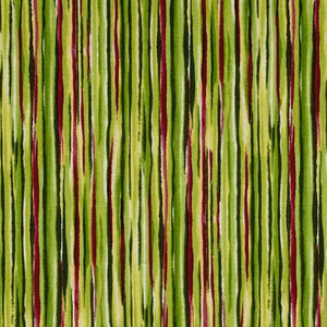 Sophia Watercolor Stripe Green Fabric Yardage 26077-H