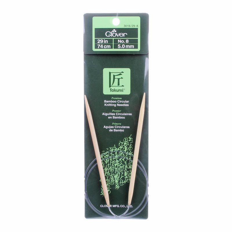 "Clover Takumi Bamboo 29"" Fixed Circular Knitting Needles 