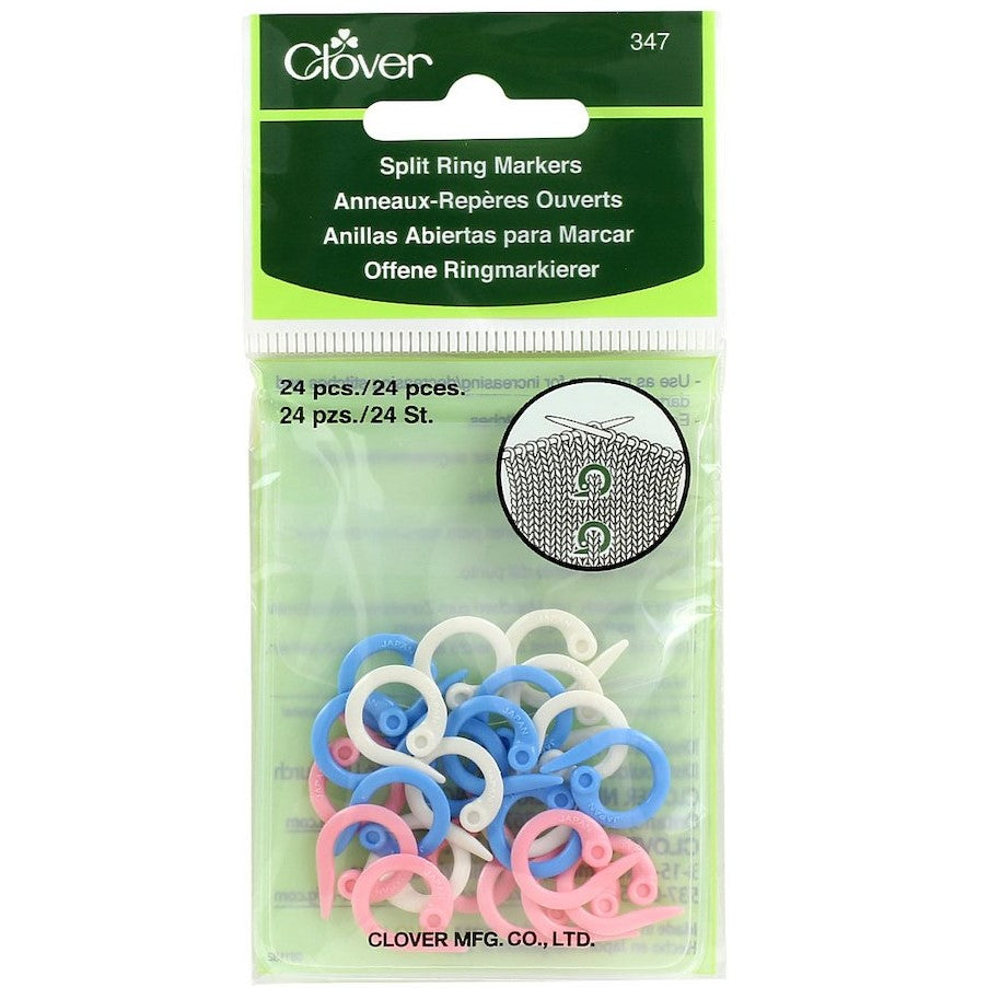 Clover Split Ring Stitch Markers - 24ct | Ann's By Design
