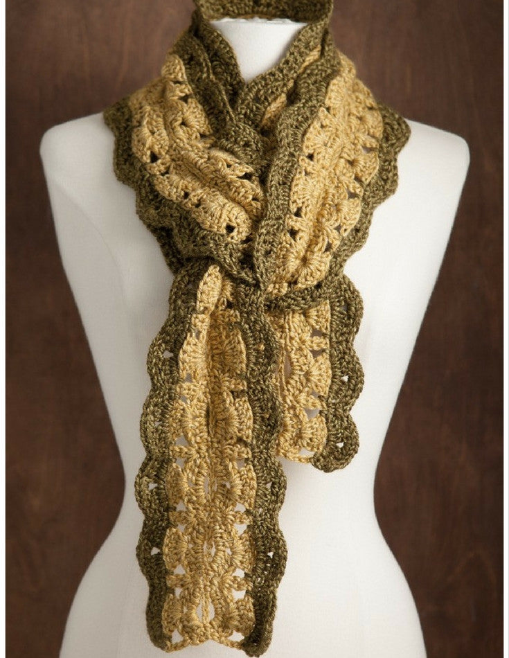 Crochet Mirror Image Scarves - Softcover | Ann's By Design