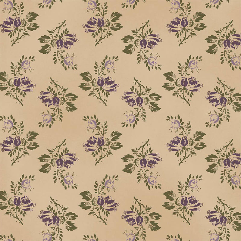The Blue and The Grey c. 1860 - Green Bouquet Reproduction Fabric Yardage 42157-5 | Ann's By Design