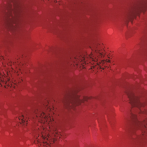 Benartex Fossil Fern Fabric Yardage - 49 True Red