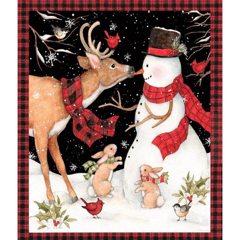 Christmas Snowman Wall Hanging Quilt Fabric Kit | Ann's By Design
