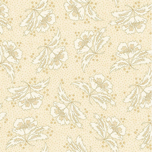 Butter Churn Basics by Kim Diehl Cream Floral Fabric Yardage 6284-44 | Ann's By Design