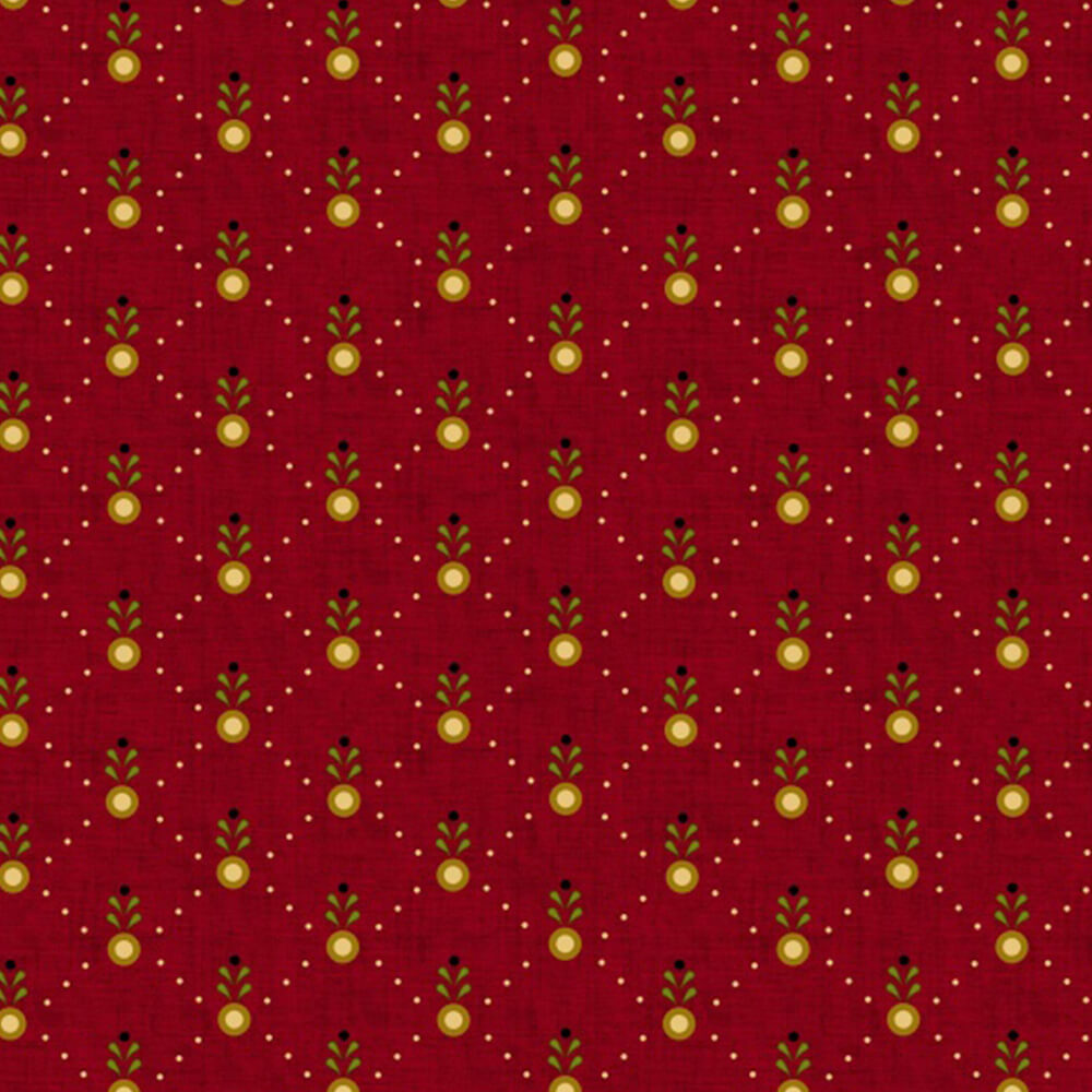 Welcome Wagon by Kim Diehl Red Diamond Sprout Fabric Yardage 6564-88 | Ann's By Design