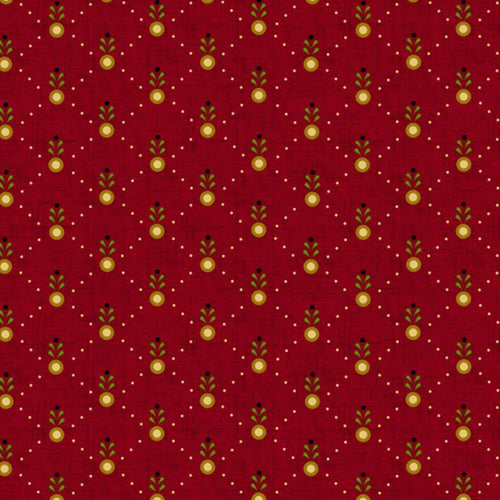 Welcome Wagon by Kim Diehl Red Diamond Sprout Fabric Yardage 6564-88