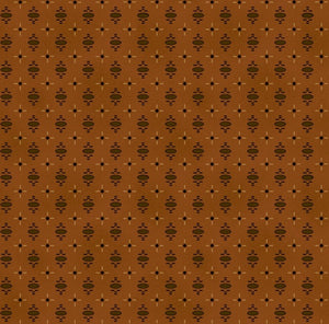 Katie's Cupboard by Kim Diehl Dark Orange Medallion Cross Fabric Yardage 6673-30