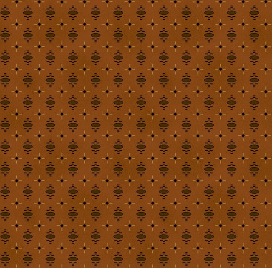 Katie's Cupboard by Kim Diehl Dark Orange Medallion Cross Fabric Yardage 6673-30 | Ann's By Design