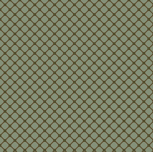 Katie's Cupboard by Kim Diehl Teal Dot Grid Fabric Yardage 6675-11
