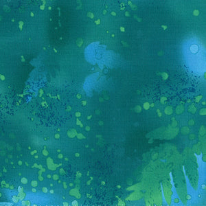 Benartex Fossil Fern Fabric Yardage - 80 Blue Lagoon