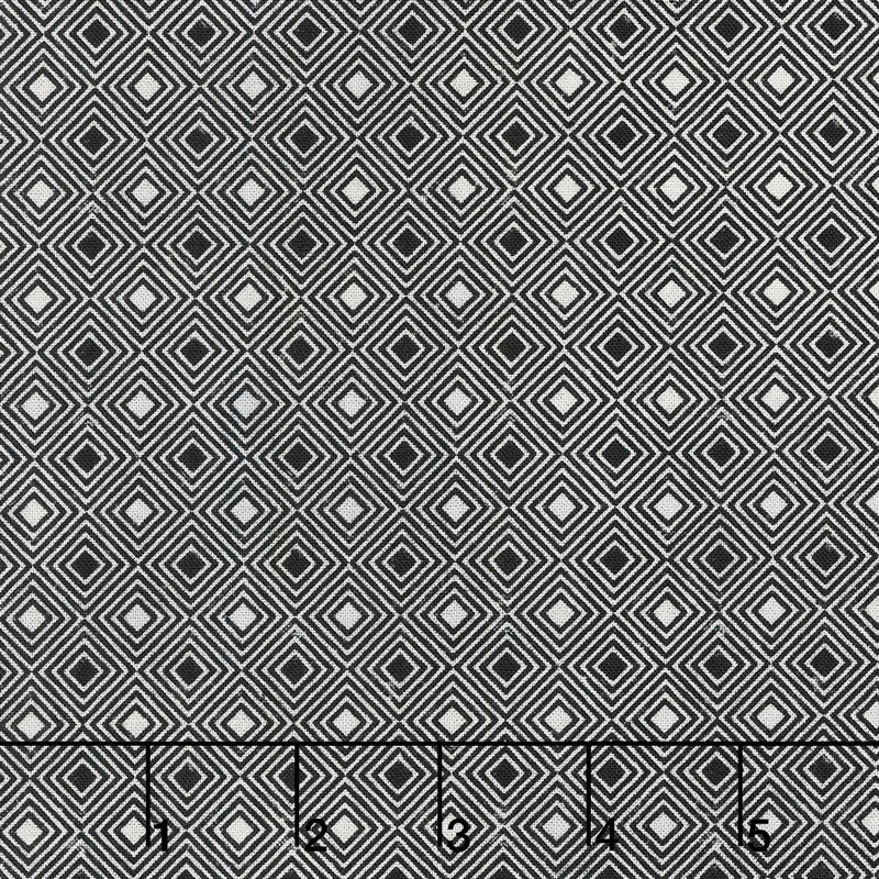Eclectic Elements Dapper Diamonds Black Fabric Yardage PWTH071.8BLAC | Ann's By Design