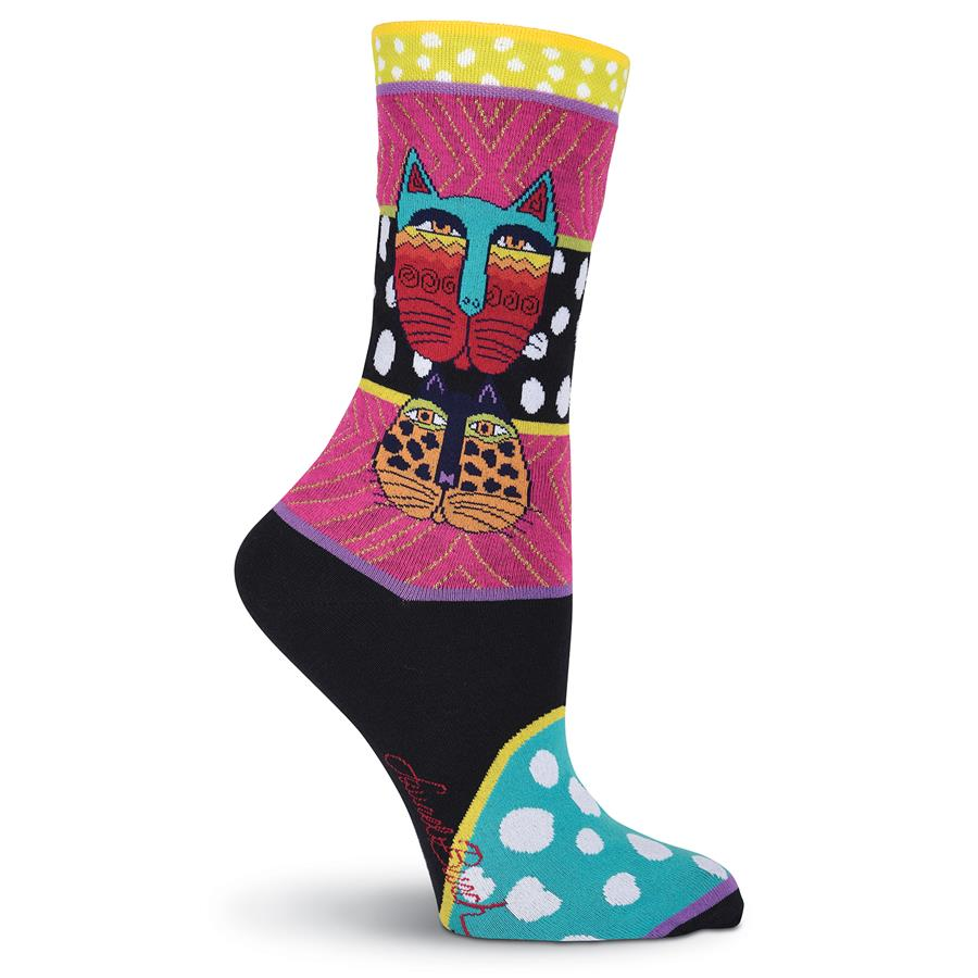 Laurel Burch Women's Wild Cat Socks Multi LB1074 | Ann's By Design