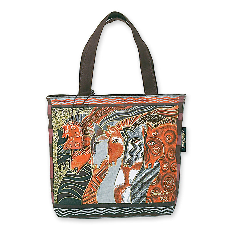 Laurel Burch Moroccan Mares Small Tote Bag LB2013 | Ann's By Design