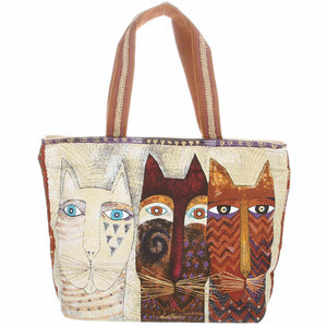 Laurel Burch Ancestral Cats Shoulder Tote Bag LB4760