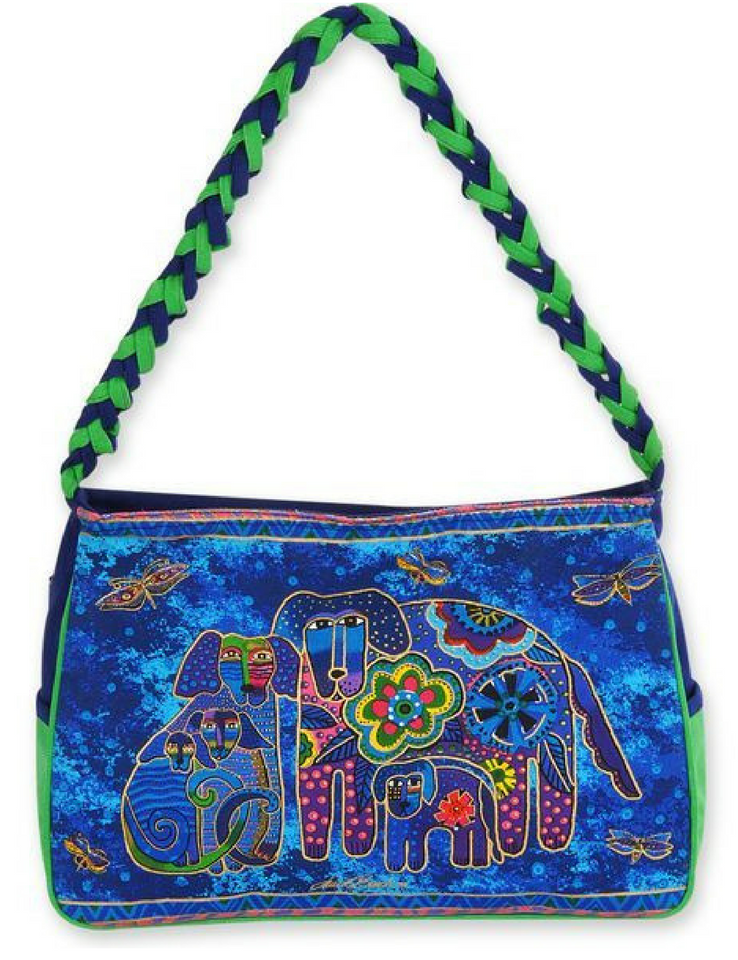 Laurel Burch Canine Family Medium Hobo Bag LB4853 | Ann's By Design