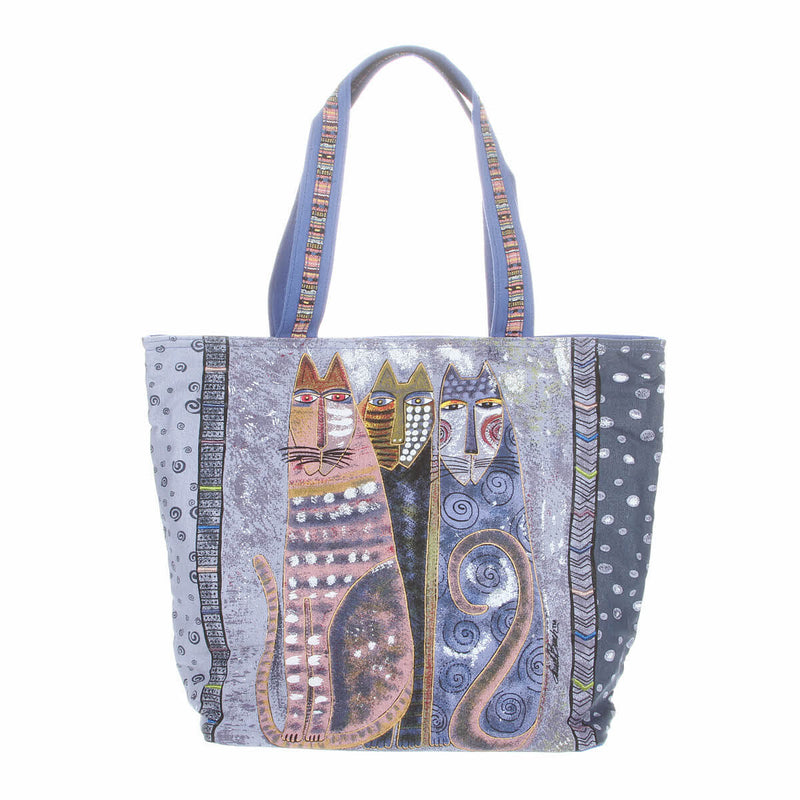 Laurel Burch Autumn Felines Shoulder Tote Bag LB4901 | Ann's By Design