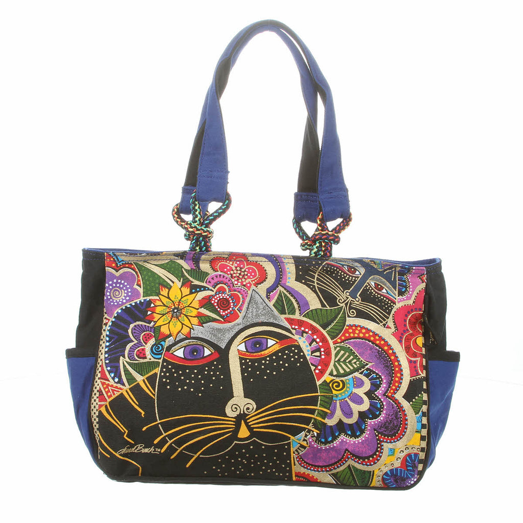 Laurel Burch Carlotta's Garden Medium Tote Bag LB5493 | Ann's By Design