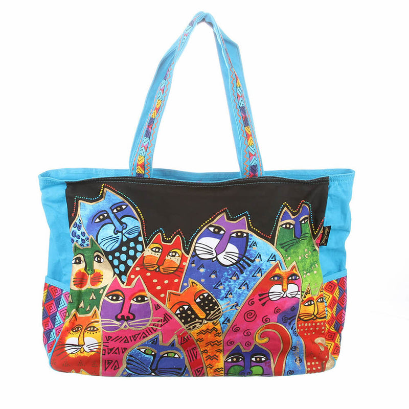 Laurel Burch Fantasticats Travel Tote Bag - LB5231 | Ann's By Design