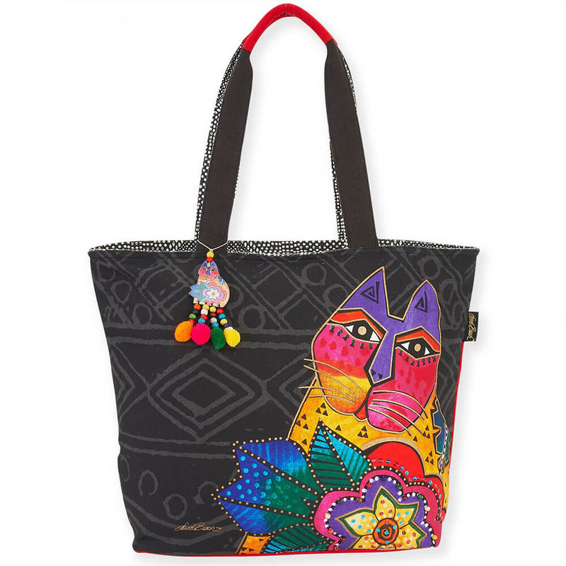 Laurel Burch Shoulder Tote Mara Cat - LB5851 | Ann's By Design