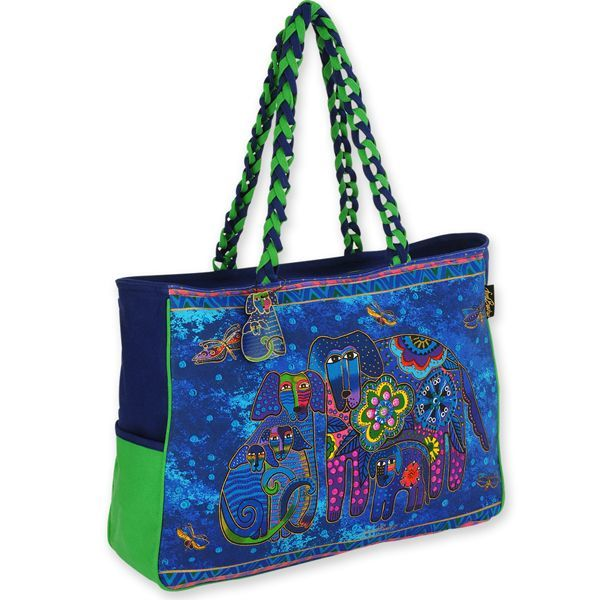 Laurel Burch Canine Family Oversized Tote Bag LB4851 | Ann's By Design