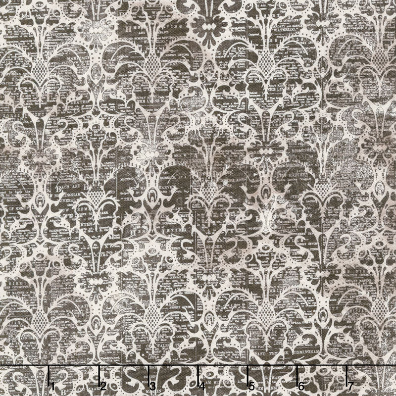Eclectic Elements Dapper Damask Neutral Fabric Yardage PWTH069.8NEUT | Ann's By Design