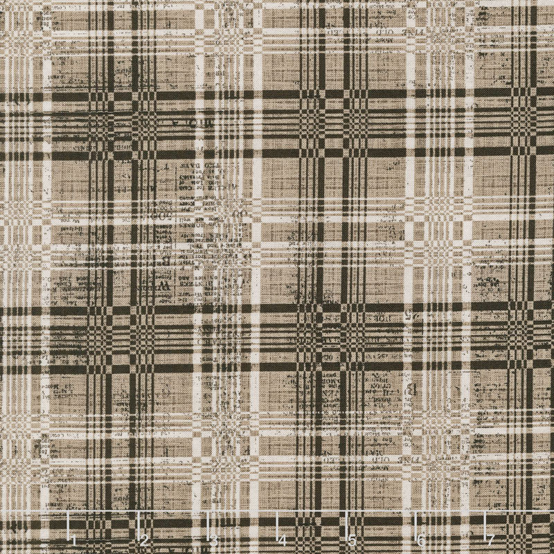 Eclectic Elements Dapper Plaid Neutral Fabric Yardage PWTH070.8NEUT | Ann's By Design