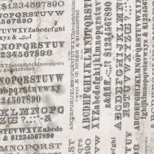 Eclectics Elements Dapper Typography Neutral Fabric Yardage PWTH057.8NEUT