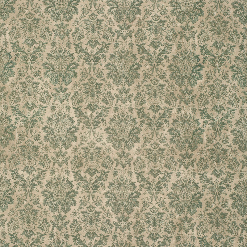 Eclectic Elements Wallflower Faded Damask Teal Fabric Yardage PWTH029.8TEAL | Ann's By Design