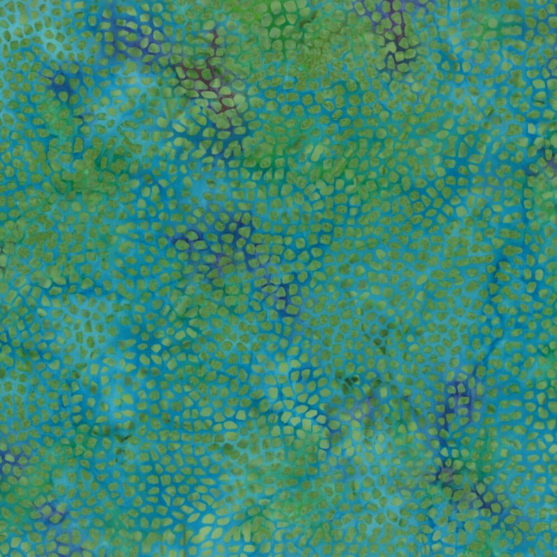 Wilmington Batavian Batiks Mosaic Tiny Stones Turquoise Fabric Yardage 22108-476 | Ann's By Design