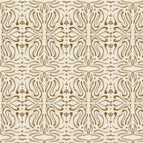 A Close Shave Set Filigree Cream/Tan Fabric Yardage 24431-EA | Ann's By Design