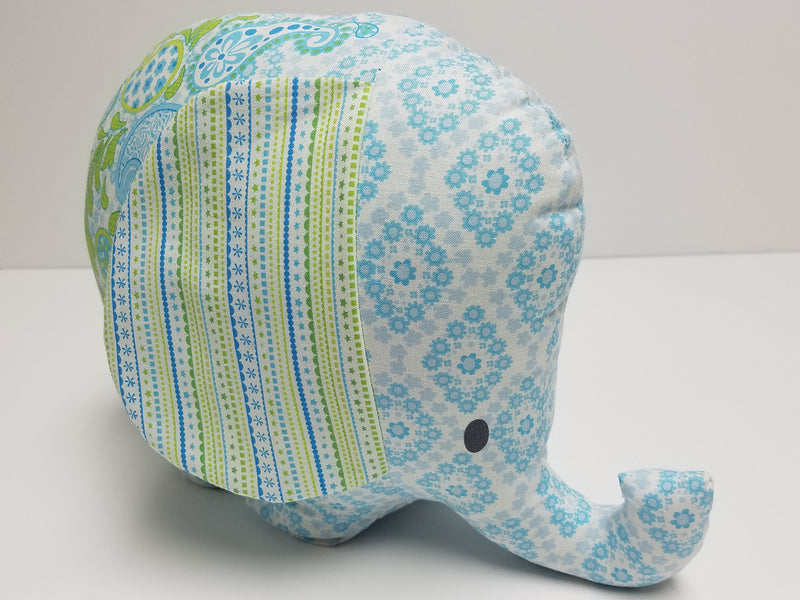 "Maggie and Flo Bobo Baby Elephant Soft Toy 24"" Fabric Panel 