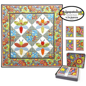 Bugapalooza Note Cards Metal Tin with Quilt Panel by Jennifer Heynen | Ann's By Design