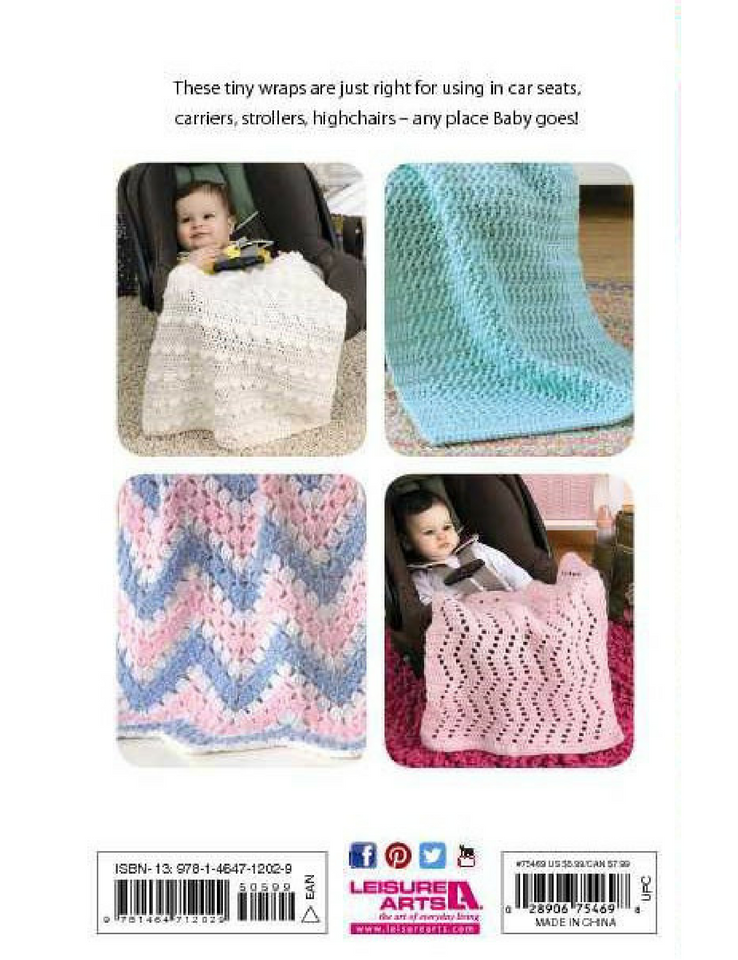 Crochet Car Seat Blankets - Softcover | Ann's By Design