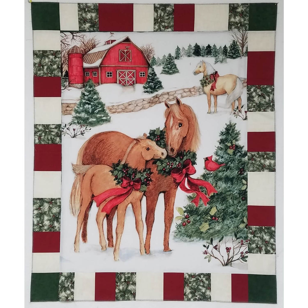 Horse Panel Lap Size Quilt Fabric Kit | Ann's By Design