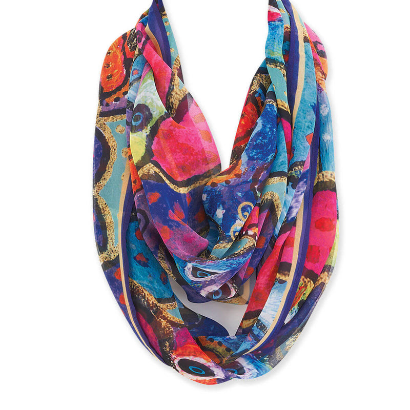 Laurel Burch Dogs & Papilliones Infinity Scarf LBI211 | Ann's By Design